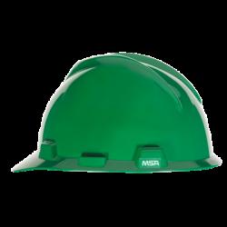 Capacete Aba Frontal Verde V-Gard Com Carneira MSA