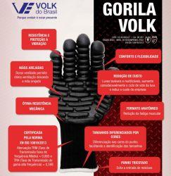 Luva Antivibração Gorila Volk