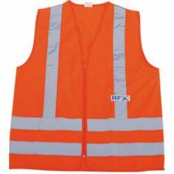 Colete de Proteção Refletivo Laranja Sem Bolso RFX
