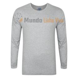 Camiseta Gola Careca Manga Comprida