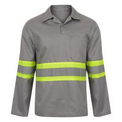 Camisa Padrão Rodovia Manga Longa Com Faixa